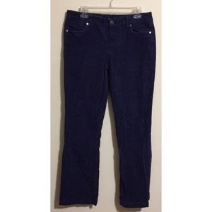 J Crew Favorite Fit Dark Royal Blue Cords Size 8R